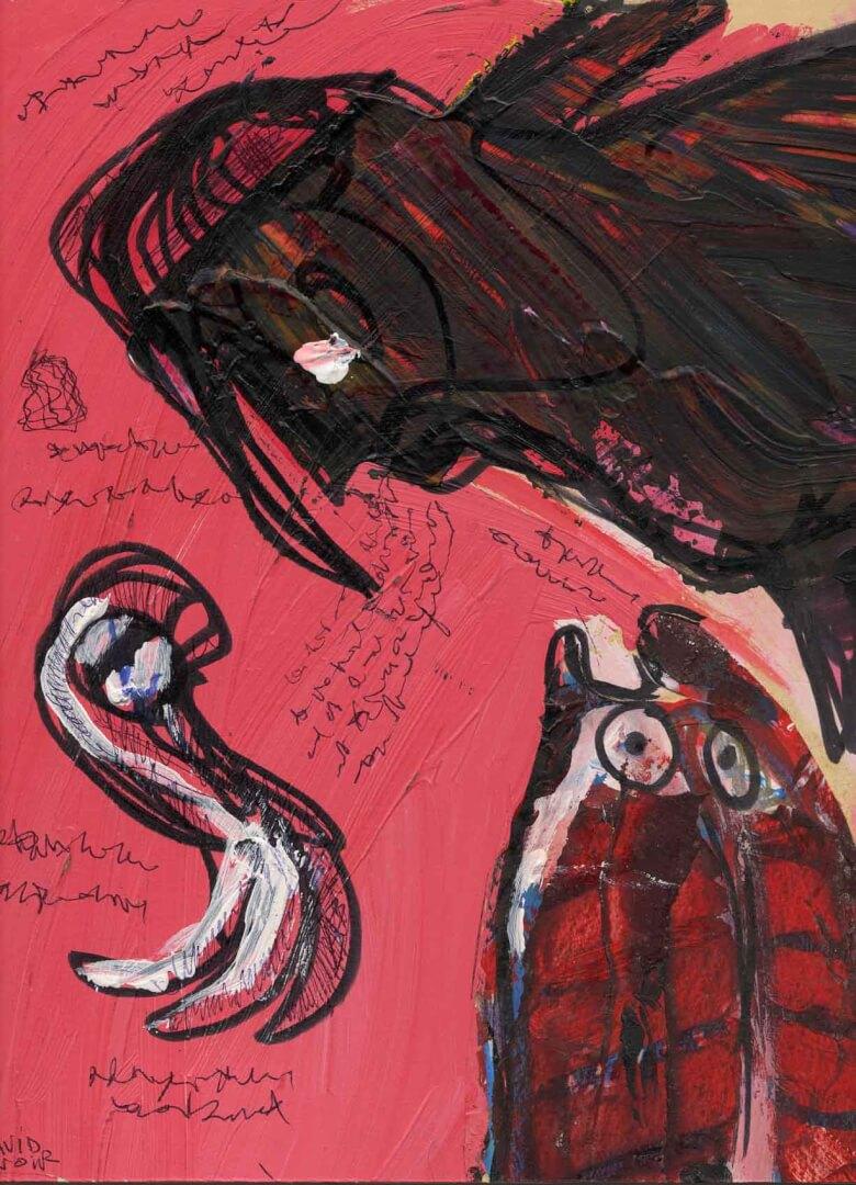Notes de service © David Noir | Dessins, peintures, collages