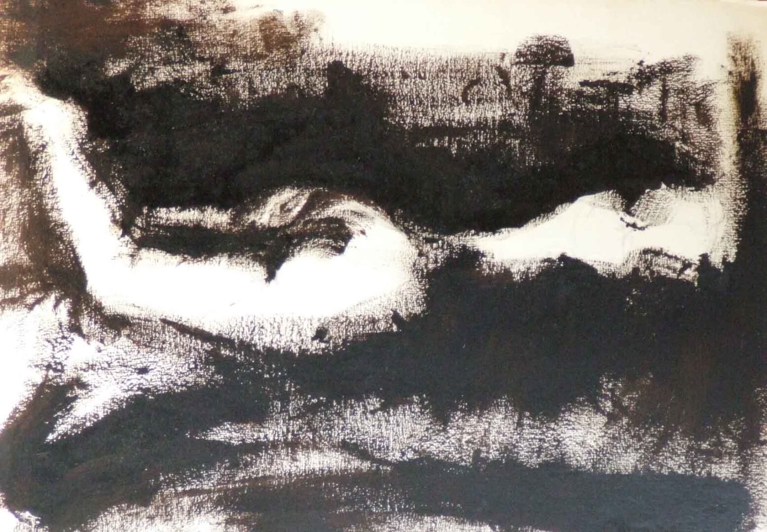 Nu allongé © David Noir | Dessins, peintures, collages