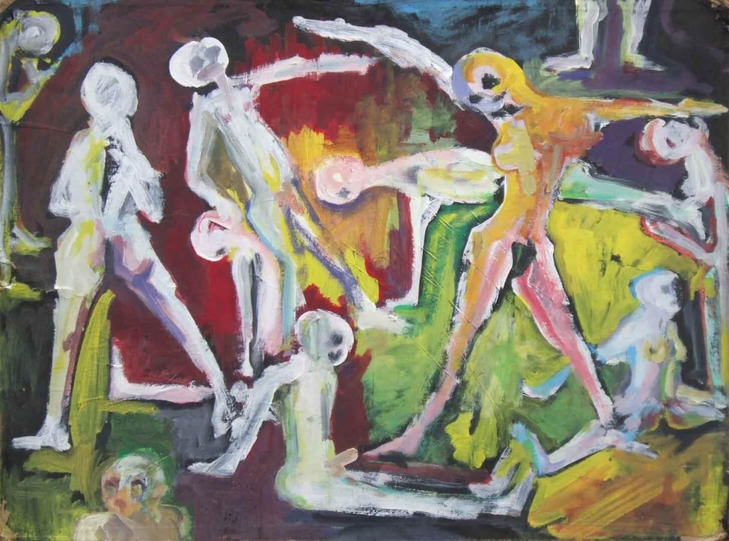 Orgie 2 © David Noir | Dessins, peintures, collages