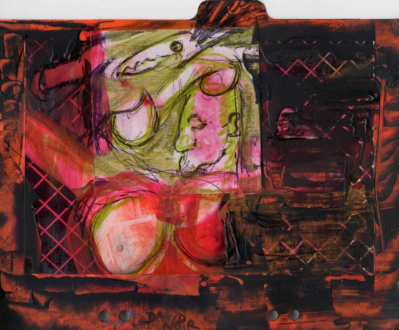 Orgie 3 © David Noir | Dessins, peintures, collages