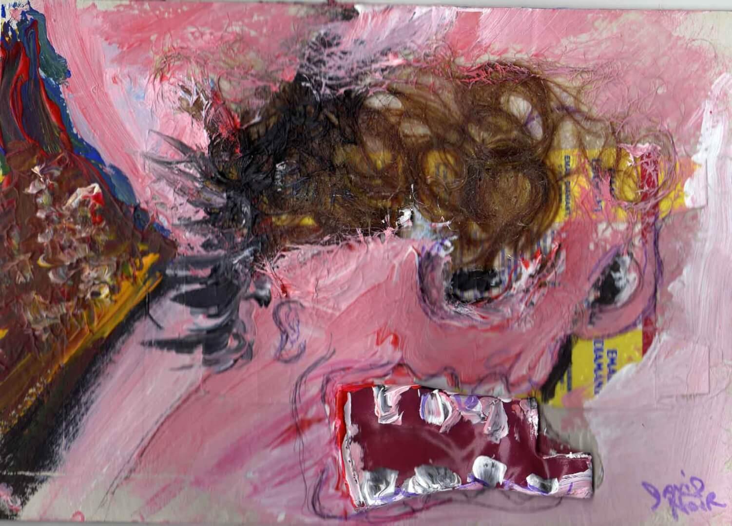Pauvresse © David Noir | Dessins, peintures, collages