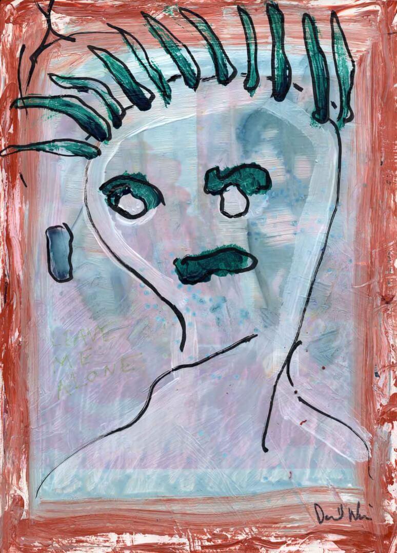Personnage © David Noir | Dessins, peintures, collages