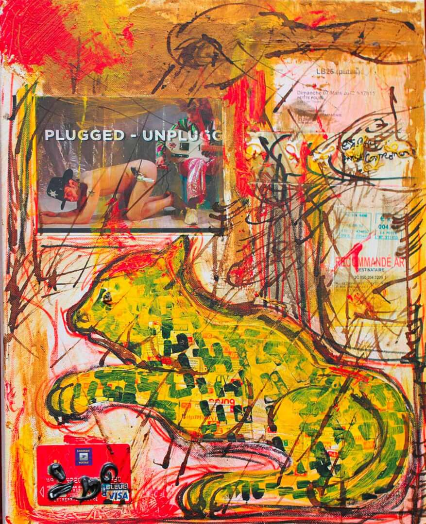 Plugged-unplugged © David Noir | Dessins, peintures, collages