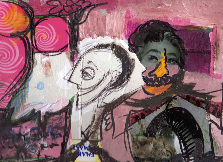 Qui va là ? © David Noir | Dessins, peintures, collages