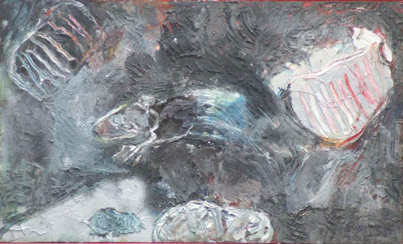 Rat d'égout et soupirail © David Noir | Dessins, peintures, collages