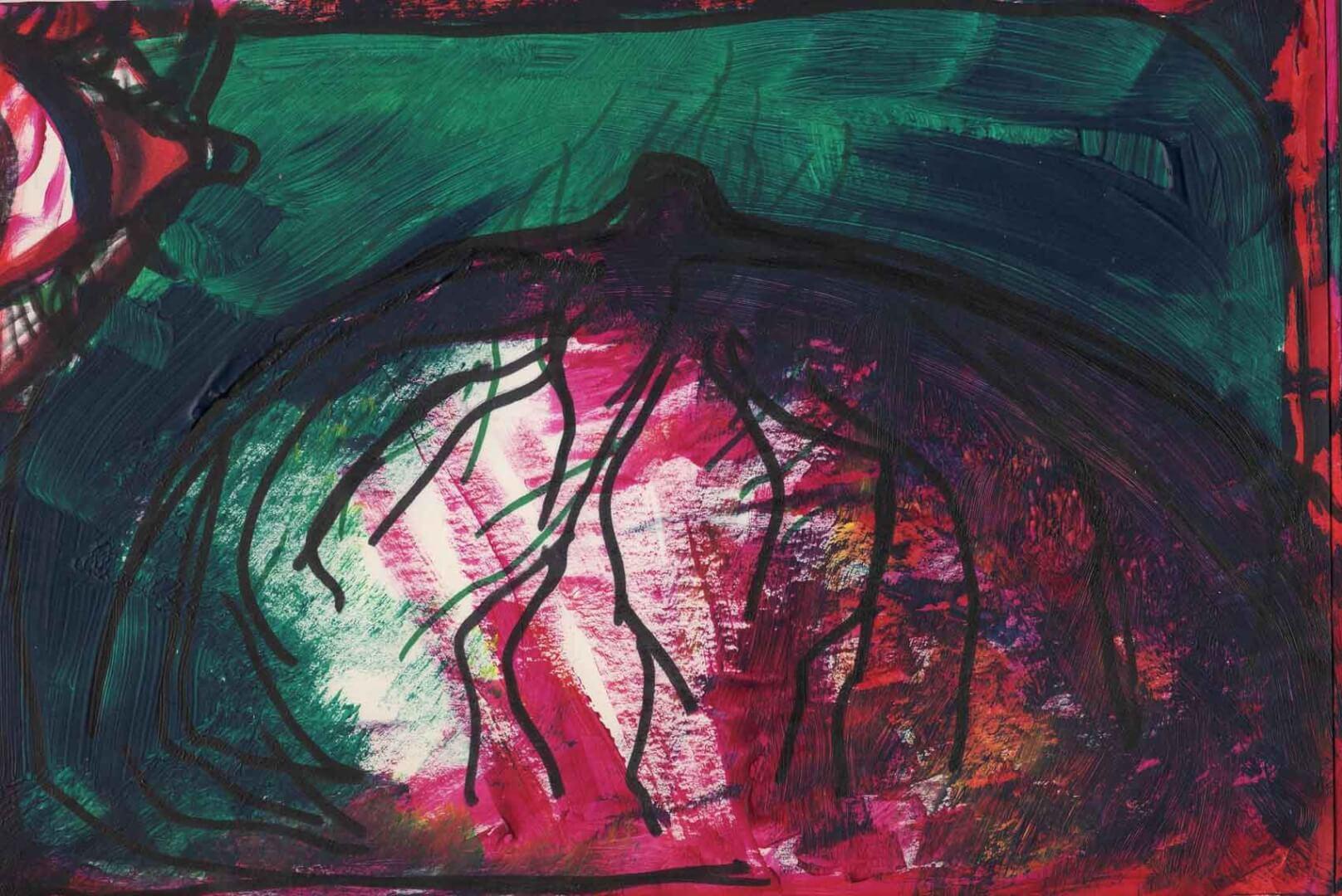 Recto verso 1 © David Noir | Dessins, peintures, collages