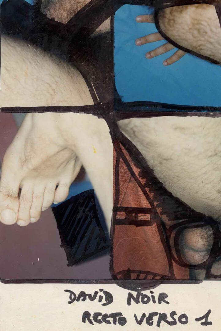 Recto verso 1 dos © David Noir | Dessins, peintures, collages