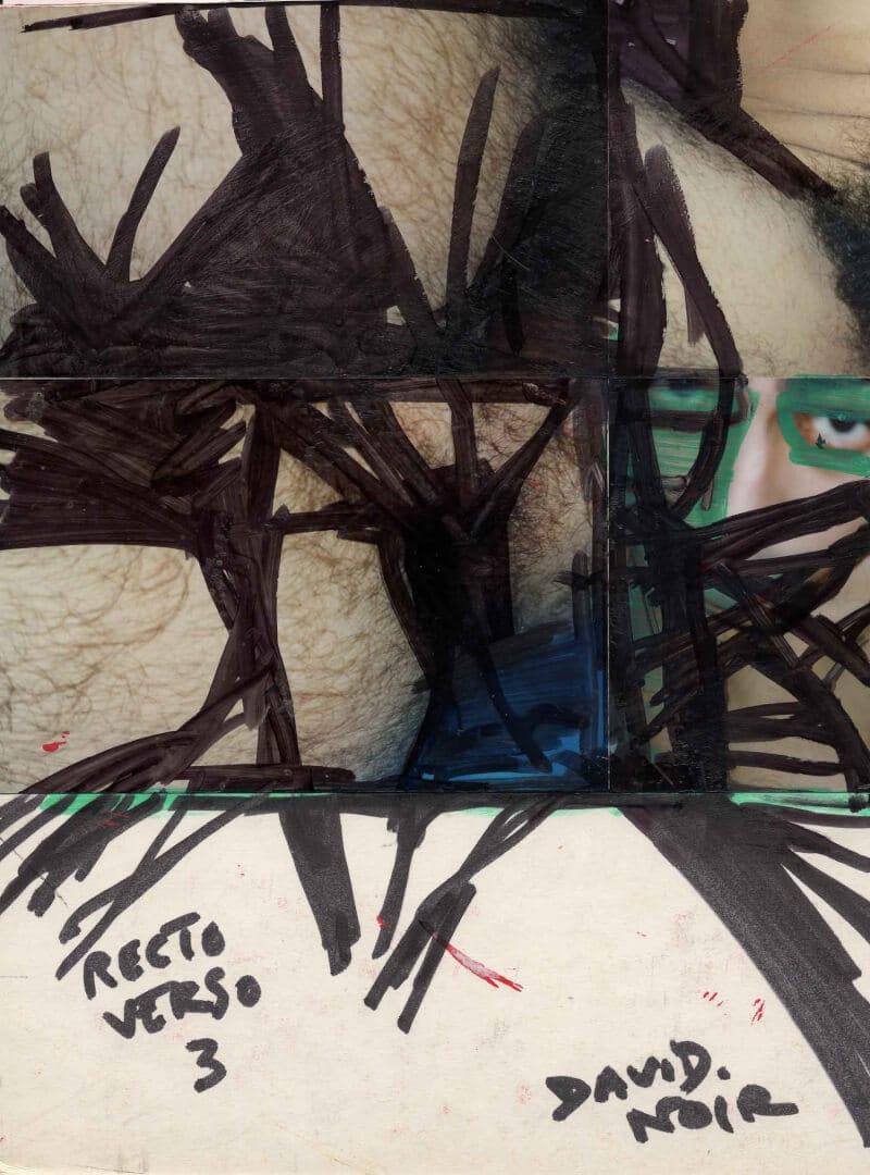 Recto verso 3 dos © David Noir | Dessins, peintures, collages