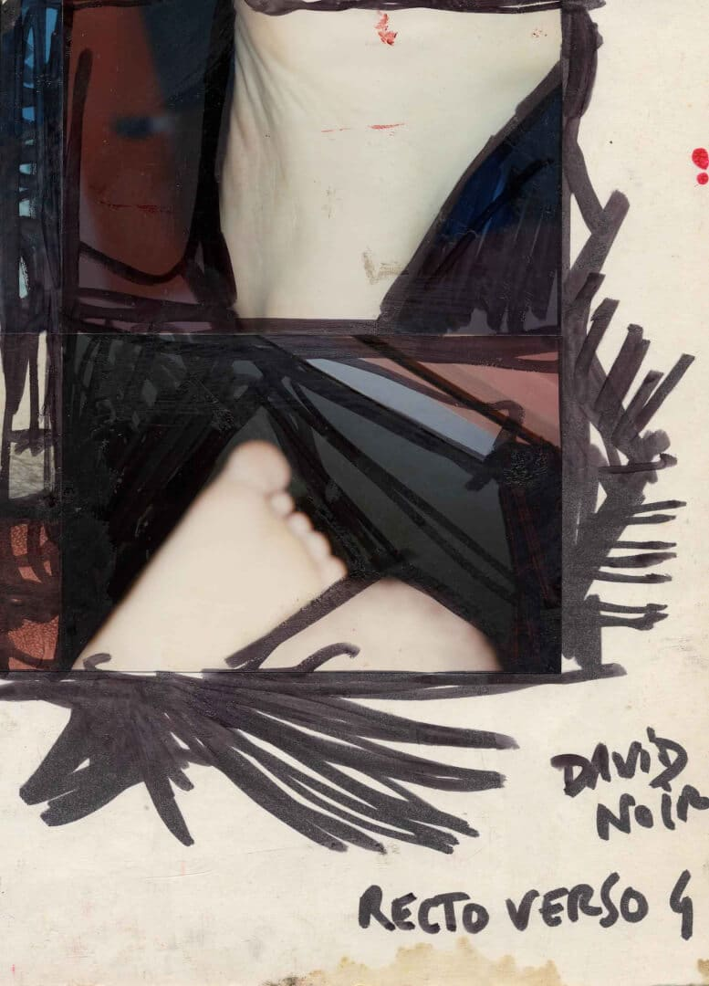 Recto verso 4 dos © David Noir | Dessins, peintures, collages