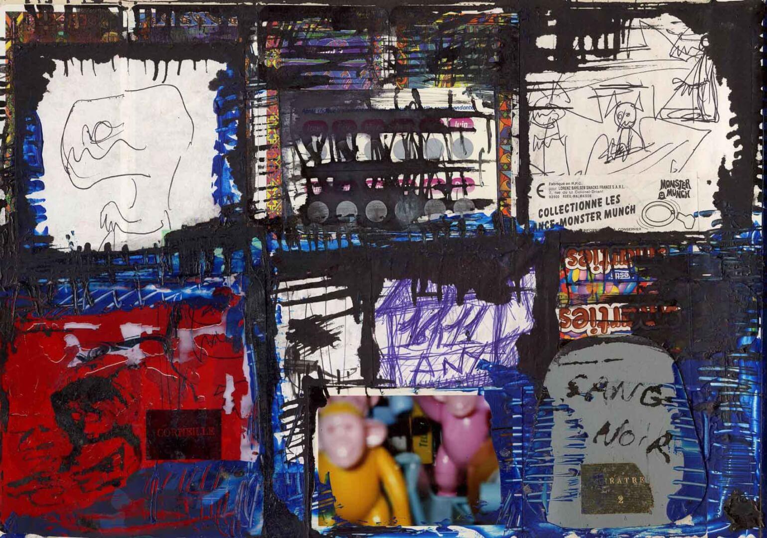 Sang noir © David Noir | Dessins, peintures, collages