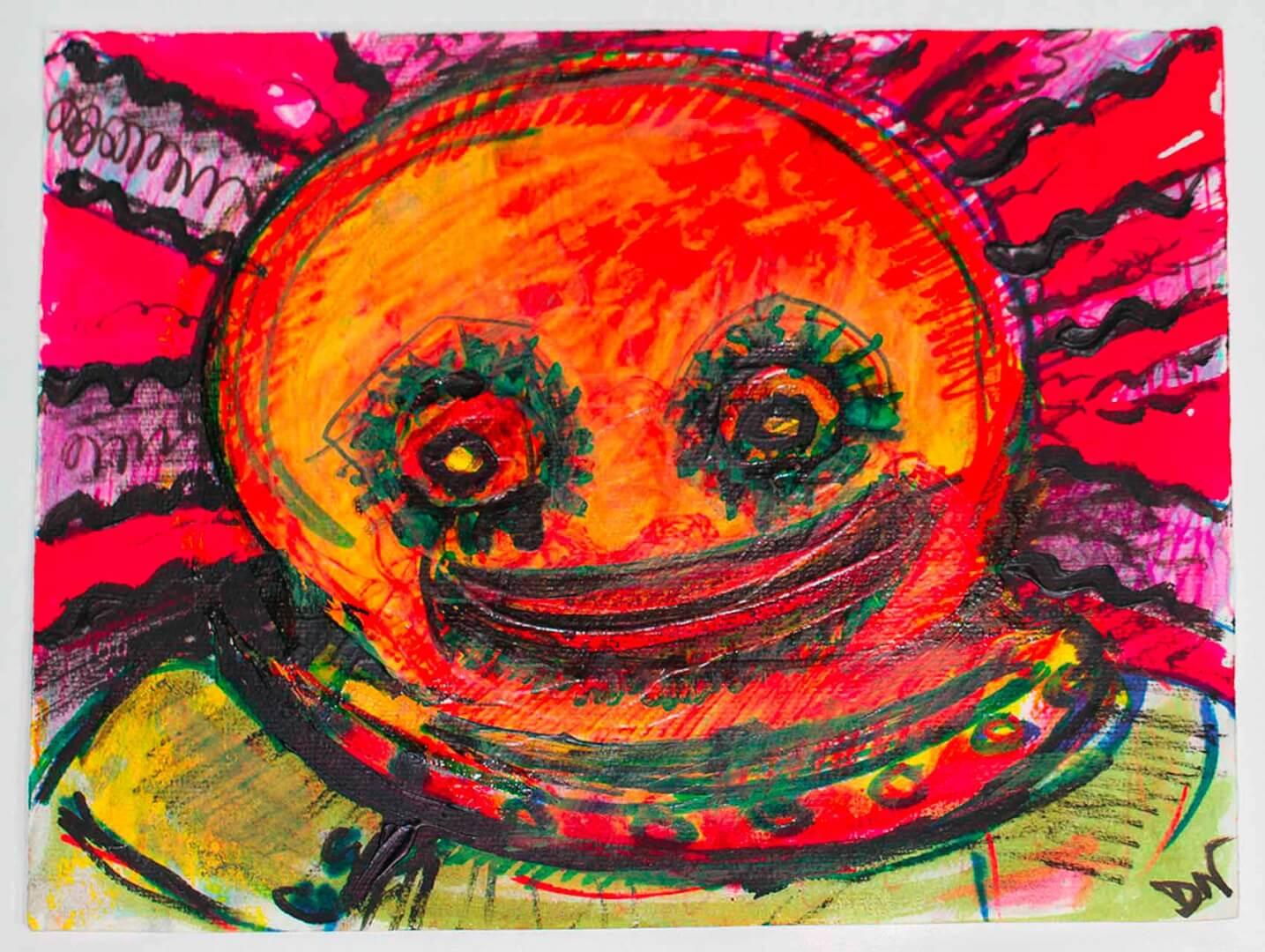 Scaphandrier joyeux © David Noir | Dessins, peintures, collages