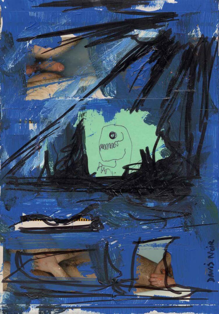 Sous l'eau © David Noir | Dessins, peintures, collages