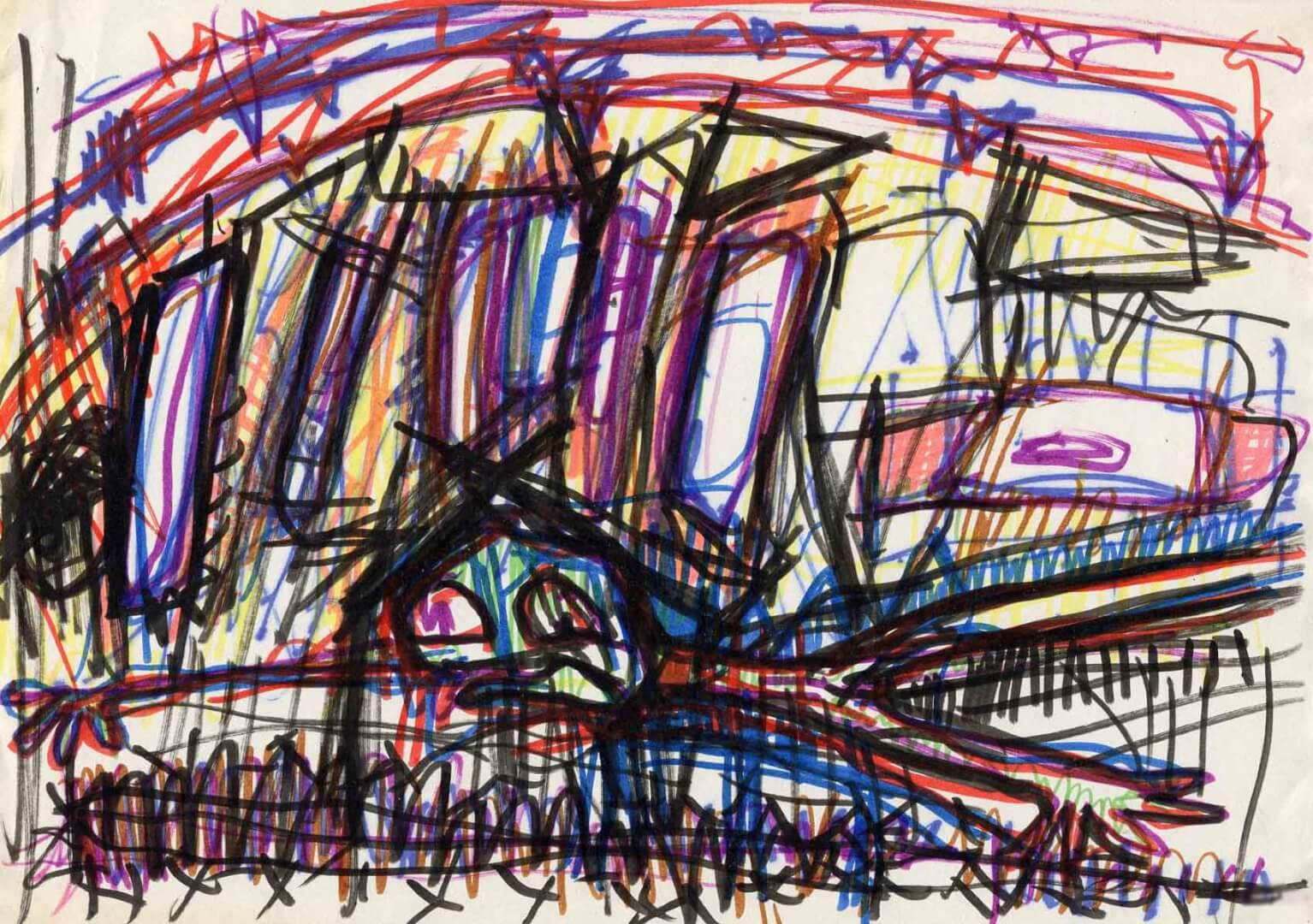 Sous les décombres © David Noir | Dessins, peintures, collages