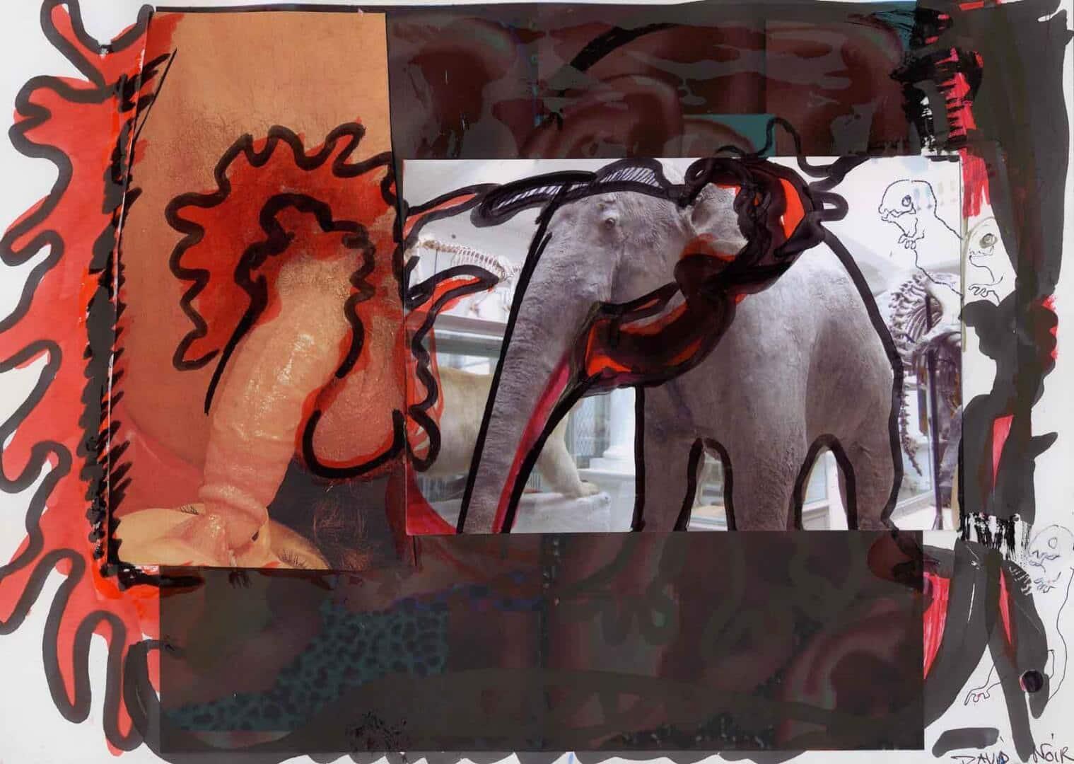 Trompé deux fois © David Noir | Dessins, peintures, collages