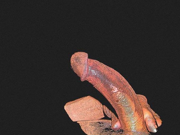Mon art sexuel | Ma verge tenue à deux doigts | 1 |Autoportrait © David Noir
