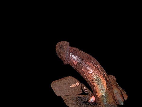 Mon art sexuel | Ma verge tenue à deux doigts | 2 |Autoportrait © David Noir